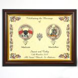 Scottish Clan Badge A4 WEDDING Print PERSONALISED, ref CBWBF
